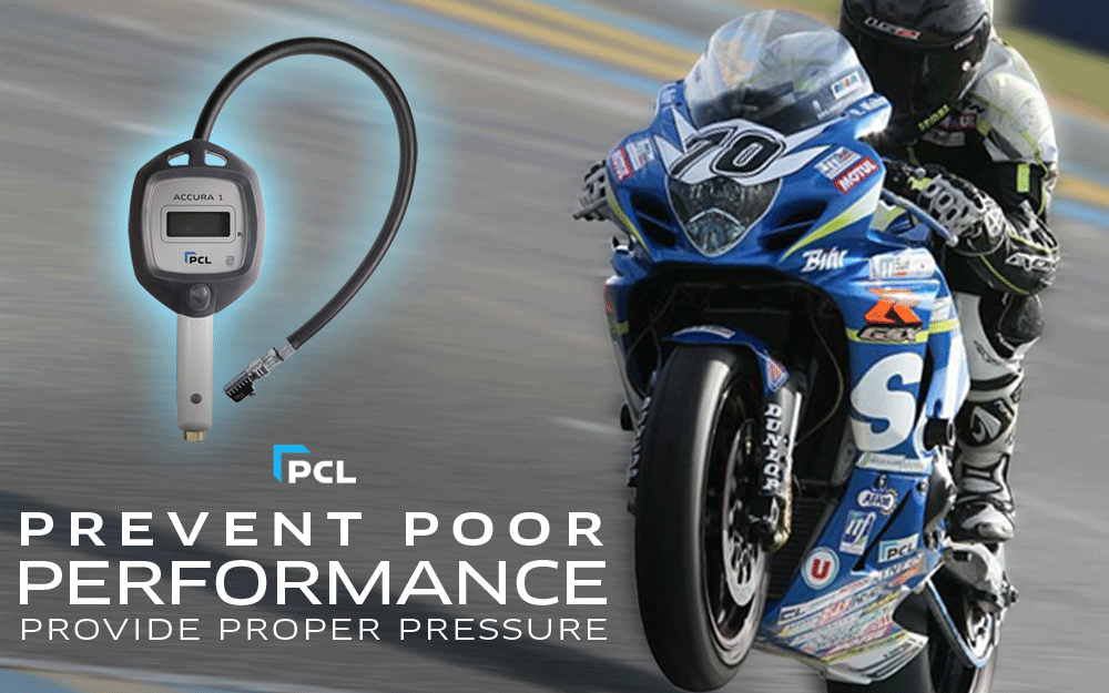 PCL's ACCURA 1 Tire Inflation Gauge - The Only Gauge for Your Motorcycle