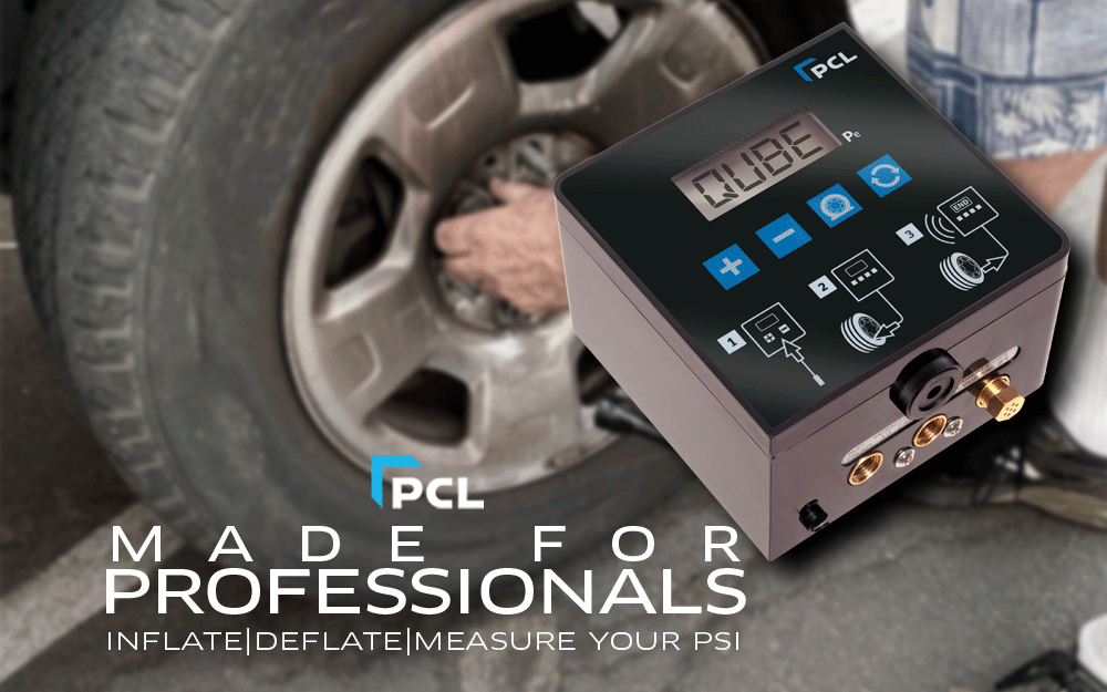 PCL's Automatic Tire Inflator - The Qube is Made to Go With You!