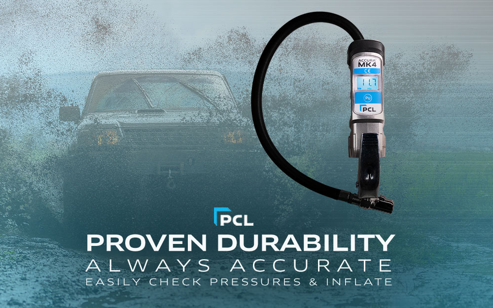 PCL's Accura MK4 Tire Inflator with Pressure Gauge